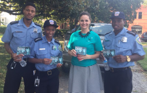 D.C. Police Cadets with DFW Volunteer in Second District.